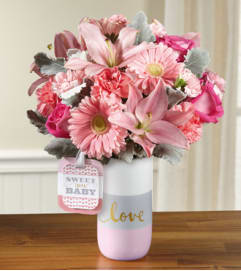 TCG's Ftd Sweet Baby Girl Bouquet Deluxe
