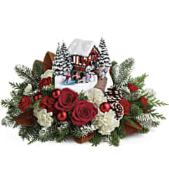 Thomas Kincade Snowfall Dreams Holiday Arrangement