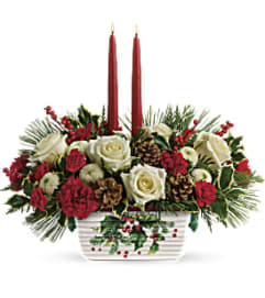 Halls Of Holly Centerpiece T18X100