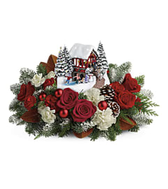 Available Dec 17 Thomas Kinkade Christmas with Roses 2018