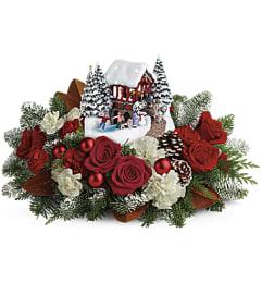 Thomas Kinkade Snowfall Dream Bouquet