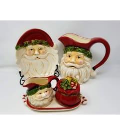 Retro Santa Serving Set