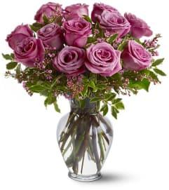 Beautiful Dozen Lavender Roses