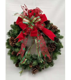 Christmas Wreath with Pine Cones SILK