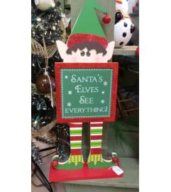 Wooden Standing Elf