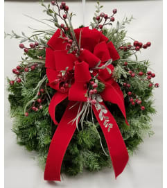Bows and Berries Wreath SILK