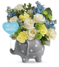 Sweet Baby Elephant BLUE