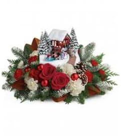 Teleflora Thomas Kinkade's Snowfall Dreams Bouquet