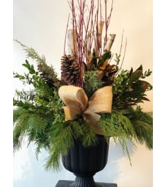 Christmas Urns outdoor