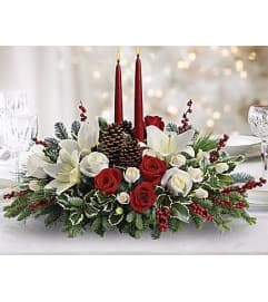 Designers Choice Christmas Centerpiece with Candles