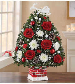 The Night Before Christmas Holiday Flower Tree XL