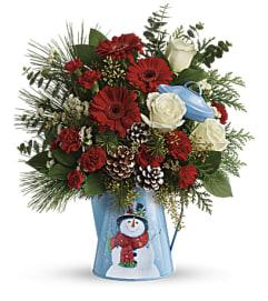 Vintage Snowman Bouquet