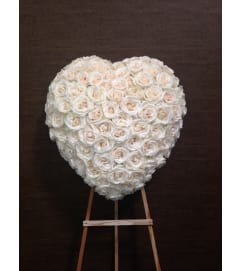 Pure White Heart Arrangement