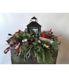 Christmas Lantern centerpiece