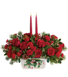 TF Holly Glow Centerpiece