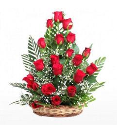 Elegant Roses basket