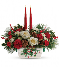 Rothe's Halls of Holly Centerpiece