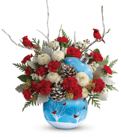 Cardinals in Snow Bouquet by Teleflora