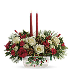 Halls Of Holly Centerpiece  From Teleflora