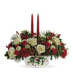 Halls Of Holly Centerpiece by Teleflora