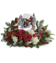 2018 Thomas Kinkade's Snowfall Dreams Bouquet