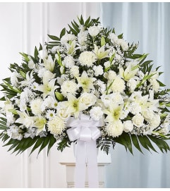 The Heartfelt Sympathies Standing Basket - White XL