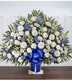 The Heartfelt Tribute Floor Basket - Blue and White XL