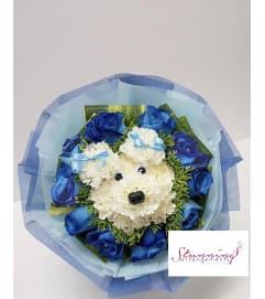 Blue Puppy Stunning Love