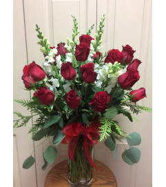 Roses and snapdragon