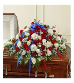 Red White & Blue Casket Cover