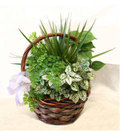 emerald green basket