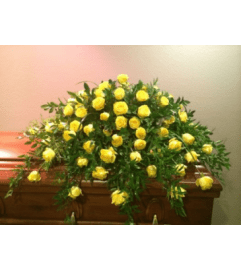 Yellow Yellow Rose Casket Spray