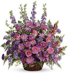 Gracious Lavender Basket by Teleflora