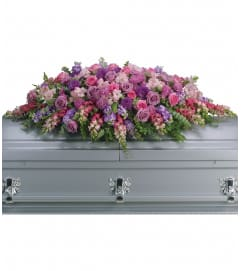 Lavender Tribute Casket Spray by Teleflora