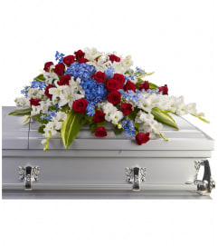 Distinguished Service Casket Spray by telefloras