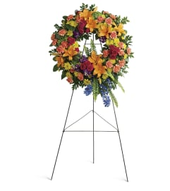 Colorful Serenity Wreath by Teleflora