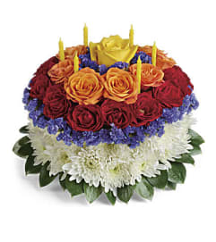 Your Wish is Granted Birthday Cake Bouquet Premium