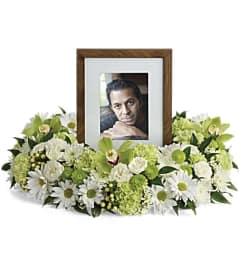 Garden Wreath Photo Tribute