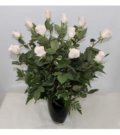 Dozen Pink Long Stem Roses