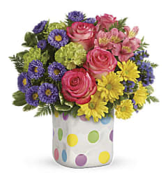 A Happy Dots Bouquet