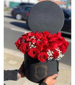 Red Rose Box Bouquet