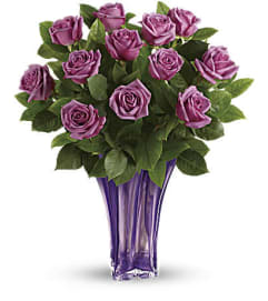 The Lavender Splendor Bouquet One Dozen