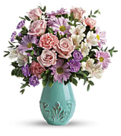 The Blushing Aqua Bouquet