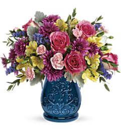 A Burst Of Blue Bouquet