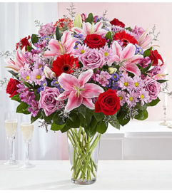 An Adoring Love Bouquet in Vase