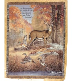 Tapestry Throw - Fur Feathers & Fall