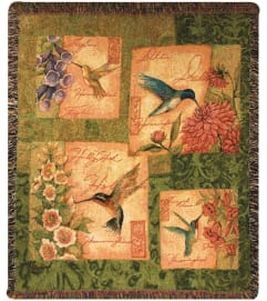 Tapestry Throw - Wings & Blossoms