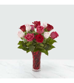 The Sweetheart Rose Bouquet One Dozen