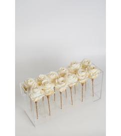 Acrylic Box rectangle  12 Roses
