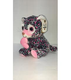 Lovie the leopard (gray and pink)